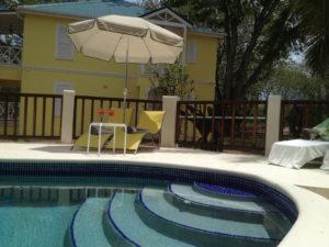 villa pool closeup